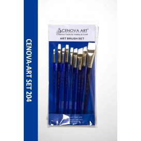 Cenova-Art Karma 9'lu Beyaz Uç Fırça Seti SET-204
