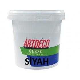 Artdeco SİYAH Gesso Tuval Astar Boyası 1000 ml.
