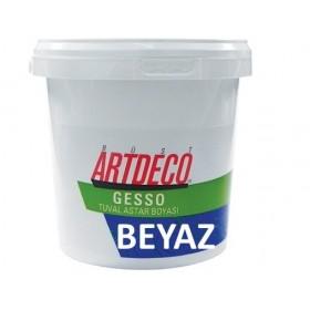 Artdeco BEYAZ Gesso Tuval Astar Boyası 1000 ml.