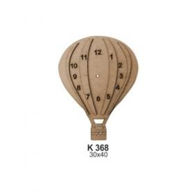 Uçan Balon SAAT 30x0cm Ahşap Obje