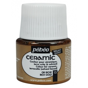 Pebeo Ceramic 15 Rich Gold Seramik Boyası