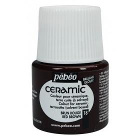 Pebeo Ceramic 18 Red Brown Seramik Boyası