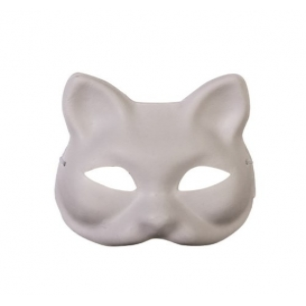 Maske Karton Kedi