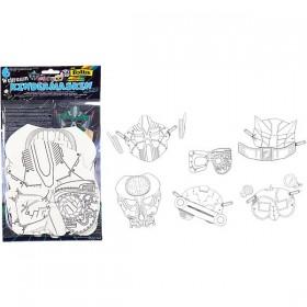 Folia Boyanabilir Karton Maske 6'lı Uzay Macerası 6 Weltraum