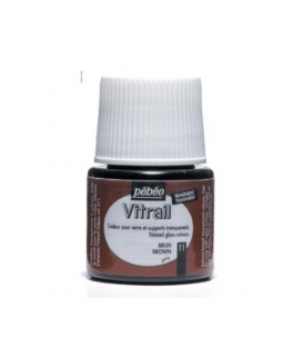 Pebeo Vitrail Cam Boyası Transparan Brown 45ml