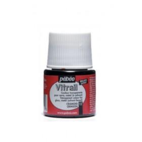 Pebeo Vitrail Cam Boyası Transparan Crimson 45ml