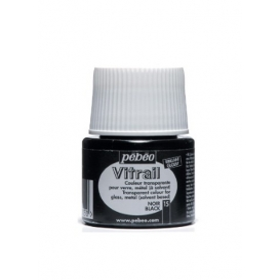 Pebeo Vitrail Cam Boyası Transparan Black 45ml