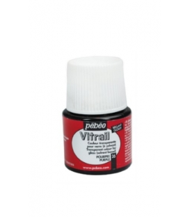 Pebeo Vitrail Cam Boyası Transparan Purple 45ml