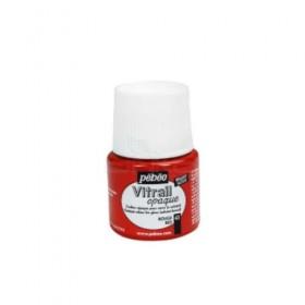Pebeo Vitrail Cam Boyası Opak Red 45ml