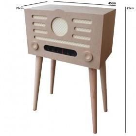 Radyo Sehpa/Kutu Dekoratif Ahşap Obje
