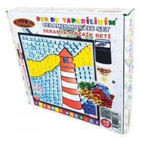 Artebella Seramik Mozaik Seti Deniz Feneri 20x20cm MS-003
