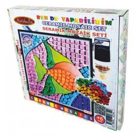 Artebella Seramik Mozaik Seti Mutlu Balık 20x20cm MS-005