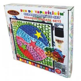 Artebella Seramik Mozaik Seti Renkli Toplar 20x20cm MS-008