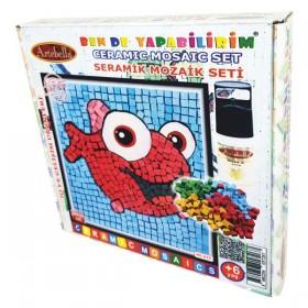 Artebella Seramik Mozaik Seti Kırmızı Balık MS-015