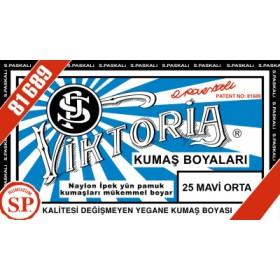 Viktoria Toz Kumaş Boyası 25 Mavi Koyu