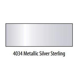 Plaid Folkart Enamels Fırınlanabilir Seramik Boyası 4034 Metallic Silver Sterling