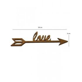 Love Yön Oku 9x39 cm Ahşap Obje