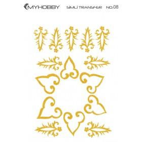 MyHobby Altın Simli Kolay Transfer 17x25cm A-S08