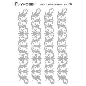 MyHobby Gümüş Simli Kolay Transfer 17x25cm A-S36