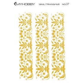 MyHobby Altın Simli Kolay Transfer 17x25cm A-S37