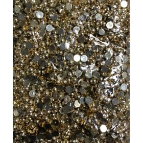 Altın Rengi Kaplama Yarım Boncuk 8mm 100 gr