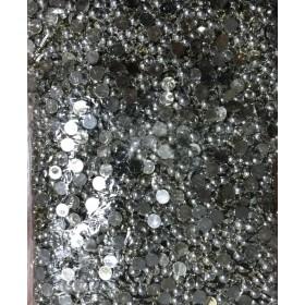 Gümüş Rengi Kaplama Yarım Boncuk 8mm 100 gr