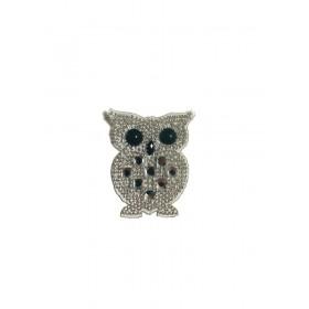 Sevimli Baykuş - Gümüş- Ütüyle Yapışan Taş