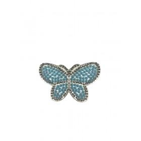 Kelebek - Mavi - Ütüyle Yapışan Taş