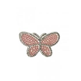 Kelebek - Pembe - Ütüyle Yapışan Taş