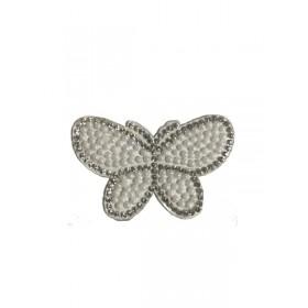 Kelebek - Beyaz - Ütüyle Yapışan Taş