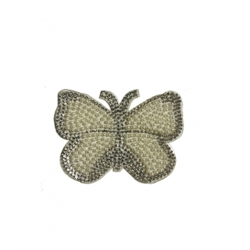 Kelebek - 8x7 -İnce Beyaz - Ütüyle Yapışan Taş