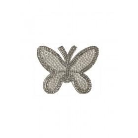 Kelebek - 8x6 - Beyaz - Ütüyle Yapışan Taş