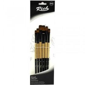 Rich 6'lı ONE STORKE Düz Kesik Fırça Seti