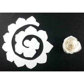 Quilling Spiral Çiçek 12'li Paket GÜL-BEYAZ
