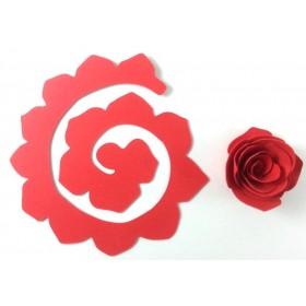 Quilling Spiral Çiçek 12'li Paket GÜL-KIRMIZI
