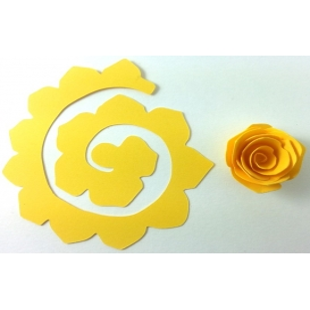 Quilling Spiral Çiçek 12'li Paket GÜL-SARI
