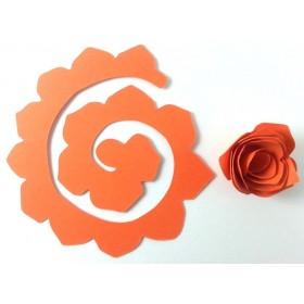 Quilling Spiral Çiçek 12'li Paket GÜL-TURUNCU