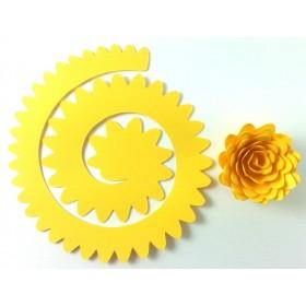 Quilling Spiral Çiçek 12'li Paket GERBERA-SARI