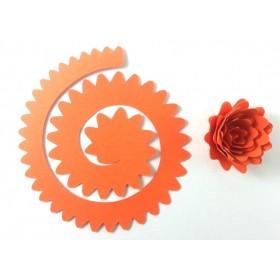 Quilling Spiral Çiçek 12'li Paket GERBERA-TURUNCU