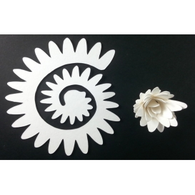 Quilling Spiral Çiçek 12'li Paket YILDIZ ÇİÇEĞİ-BEYAZ