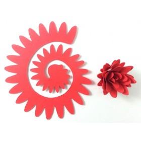 Quilling Spiral Çiçek 12'li Paket YILDIZ ÇİÇEĞİ-KIRMIZI