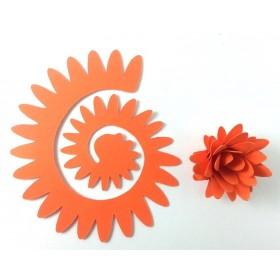 Quilling Spiral Çiçek 12'li Paket YILDIZ ÇİÇEĞİ-TURUNCU