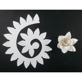 Quilling Spiral Çiçek 12'li Paket KRİZANTEM-BEYAZ