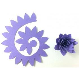 Quilling Spiral Çiçek 12'li Paket KRİZANTEM-MOR