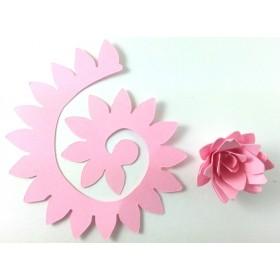 Quilling Spiral Çiçek 12'li Paket KRİZANTEM-PEMBE