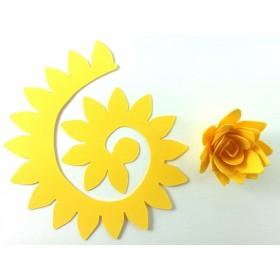Quilling Spiral Çiçek 12'li Paket KRİZANTEM-SARI