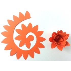 Quilling Spiral Çiçek 12'li Paket KRİZANTEM-TURUNCU