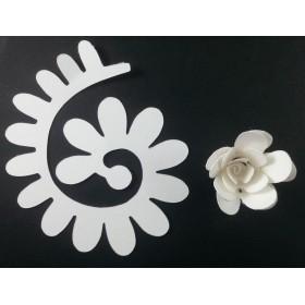 Quilling Spiral Çiçek 12'li Paket ANEMON-BEYAZ