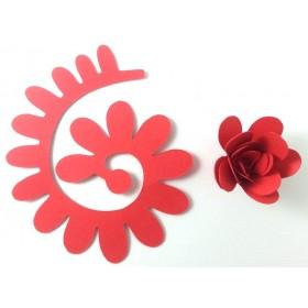 Quilling Spiral Çiçek 12'li Paket ANEMON-KIRMIZI