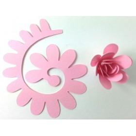 Quilling Spiral Çiçek 12'li Paket ANEMON-PEMBE
